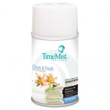 Metered Fragrance Dispenser Refills, Clean N Fresh, 6.6oz Aerosol, 12/carton