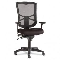 Alera Elusion Series Mesh High-Back Multifunction Chair, Black