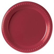 """Plastic Plates, 9"""", Red, 25/pack"""