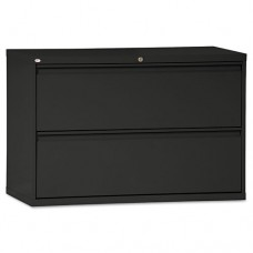 Two-Drawer Lateral File Cabinet, 42w X 19-1/4d X 28-3/8h, Black