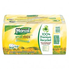 100% Recycled Bundle Bathroom Tissue, White, 4 Rolls/pack, 6/carton