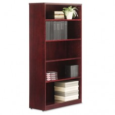 Alera Verona Veneer Series Bookcase, Five-Shelf, 35-1/2w X 14d X 66h, Mahogany