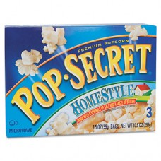 Microwave Popcorn, Homestyle, 3.5oz Bags, 3/box