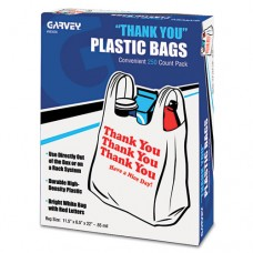 Thank You Bags, Printed, Plastic, .5mil, 11 X 22, White, 250/box