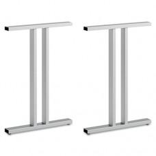 Leg Kit-Freestanding Dog Leg Desk Momentum: Silver