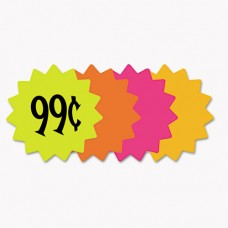 """Die Cut Paper Signs, 4"""" Round, Assorted Colors, Pack Of 60 Each"""