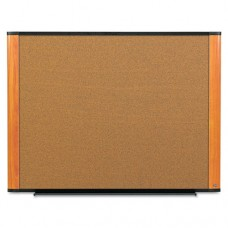 Cork Bulletin Board, 36 X 24, Aluminum Frame W/light Cherry Wood Grained Finish