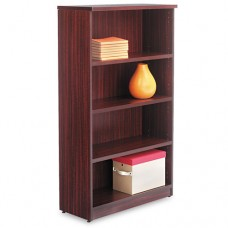 Alera Valencia Series Bookcase, Four-Shelf, 31 3/4w X 14d X 55h, Mahogany
