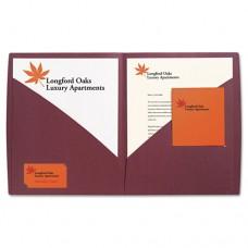 Impact Designer Two-Pocket Folder, 11 X 8-1/2, Burgundy, 5/pack