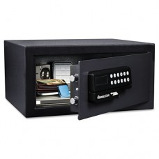 Electronic Lock/card Swipe Security Safe, 1.1 Ft3, 18w X 16d X 9h, Black