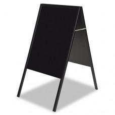 Magnetic Wet Erase Board, 27x34 Black, Black Wood Frame