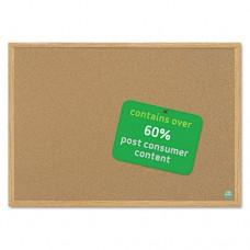 Earth Cork Board, 36 X 48, Wood Frame