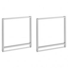 Leg Kit-Freestanding Rectangular Desk Momentum: Silver