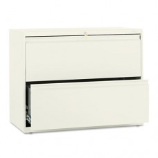 800 Series Two-Drawer Lateral File, 36w X 19-1/4d X 28-3/8h, Putty