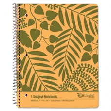 Earthwise Recycled Paper Notebook, College/medium, 8 7/8 X 11, White, 100 Sheets
