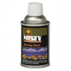 Metered Dry Deodorizer Refills, Spring Rain, 7oz, Aerosol, 12/carton