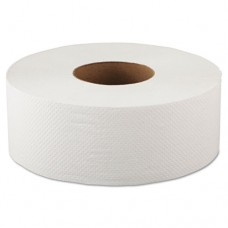 Jumbo Bathroom Tissue, 2-Ply, White, 520ft, 12 Rolls/carton