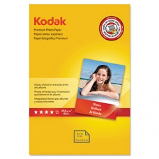 Premium Photo Paper, 8.5 Mil, Glossy, 4 X 6, 60 Sheets/pack