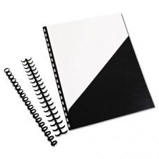 Zipbind Prepunched Pocket Folder, 8-1/2 X 11, Black, 10 Folders/pack