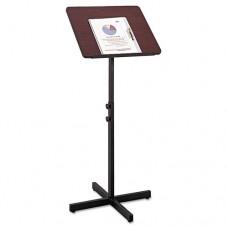 Adjustable Speaker Stand, 21w X 21d X 29-1/2h To 46h, Mahogany/black