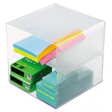 Desk Cube, Divided, Clear, 6 X 6 X 6