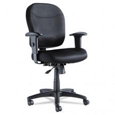 Alera Wrigley Series Mesh Mid-Back Chair, Black
