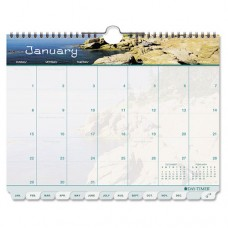 Coastlines Tabbed 12-Month Wirebound Wall Calendar, 11 X 8 1/2, 2016