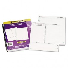 Reference Dated Two-Page-Per-Day Organizer Refill, Jan.-Dec., 8 1/2 X 11, 2016