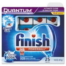 Quantum Dishwasher Tabs, White, 25 Count, 6 Boxes/carton