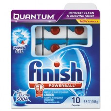 Quantum Dishwasher Tabs, With Baking Soda, Blue, 10 Count, 8 Boxes/carton