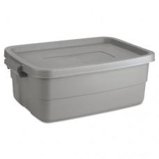 Roughneck Storage Box, 10 Gal, Steel Gray