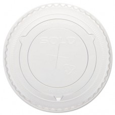 Straw-Slot Cold Cup Lids, 10oz Cups, Clear