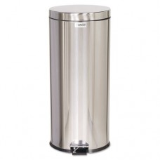Medi-Can Steel Step Can, Round, Steel, 8 Gal, Stainless Steel