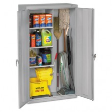 Janitorial Cabinet, 36w X 18d X 64h, Light Gray