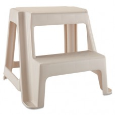 Two-Step Stool, 18 2/5w X 18 9/10d X 18 4/5h, Bisque