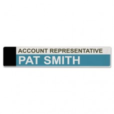 Panel Wall Sign Name Holder, Acrylic, 9 X 2, 6/pack, Clear