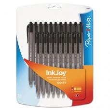 Inkjoy 100 Rt Retractable Ballpoint Pen, 1mm, Black, 20/pack