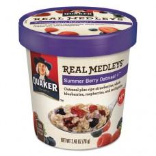 Real Medleys Oatmeal, Summer Berry Oatmeal+, 2.46oz Cup, 12/carton