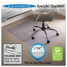 """Foldable 36x48 Rectangle Chair Mat, Task Series For Carpet Up To 1/4"""""""