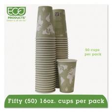 World Art Renewable/compostable Hot Cups, 16 Oz, Moss, 50/pack, 10 Pack/carton