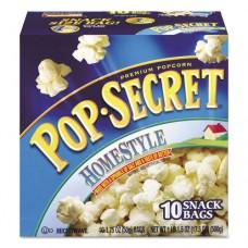 Microwave Popcorn, Homestyle, 1.2 Oz Bags, 10/box