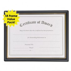 Framed Achievement/appreciation Awards, 11w X 8 1/2h, 2 Designs, 18/carton