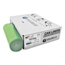 Integreen Oxo Can Liners, 23 Gal, .39 Mil, 30 X 36, Green, 500/carton