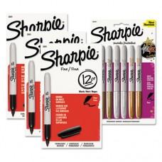 Fine Point Permanent Marker Kit, Black/assorted Metallic Colors, 42/kit