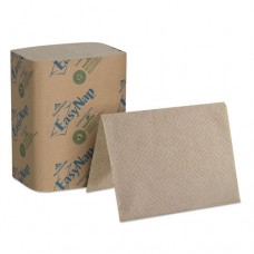 "Easynap Embossed Dispenser Napkins 2-Ply, 6 1/2"" X 5"" Folded, Brown, 6000/carton"