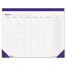 Nondated Desk Pad Calendar, 22 X 17, Blue