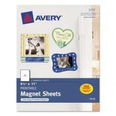 Printable Inkjet Magnet Sheets, 8 1/2 X 11, White, 5/pack