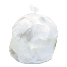Nonperforated Coreless Can Liner, 30x37, 30gal, 8mic, Clear, 25/rl, 20/ct