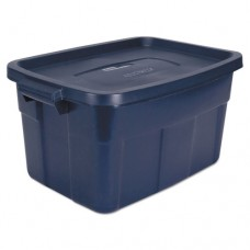 Roughneck Storage Box, 14 Gal, Dark Indigo Metallic, 12/carton