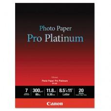 Photo Paper Pro Platinum, High Gloss, 8-1/2 X 11, 80 Lb., White, 20 Sheets/pack